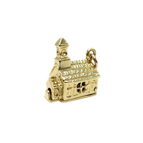 Vintage 14K Gold Bride & Groom Chapel Charm