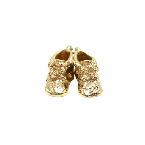 Vintage 14K Gold Baby Shoes Charm