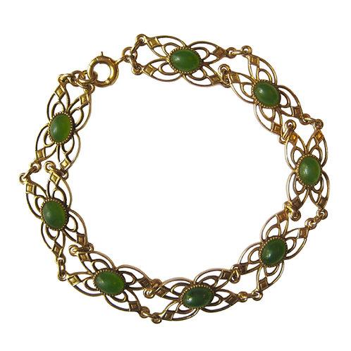 Vintage Nephrite Jade Bracelet