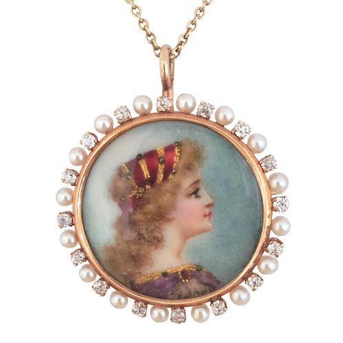 Renaissance Revival Miniature Pendant / Brooch