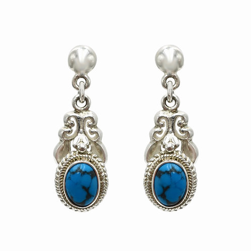 Michael Schofield Turquoise & Sterling Silver Earrings