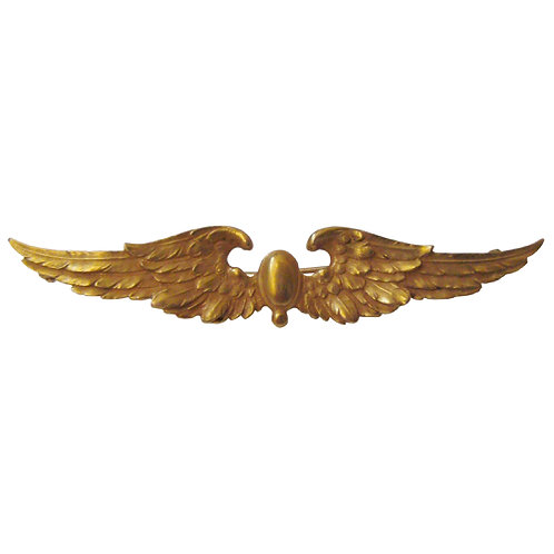 Krementz 14K Gold Wing Brooch
