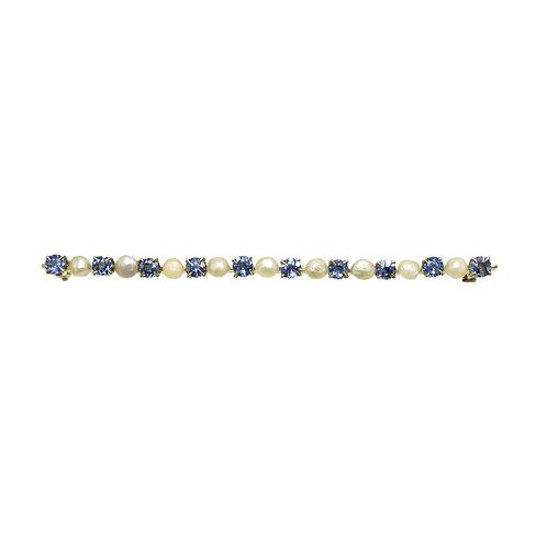 J.A. & S.W. Granbery Sapphire, Pearl, 10K Brooch