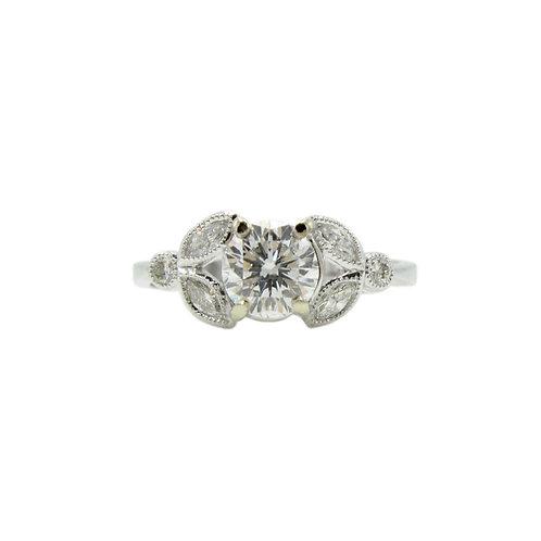 Edwardian Style Diamond & 18K Engagement Ring