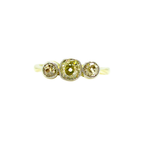 Vintage Champagne & Yellow Diamond Engagement Ring