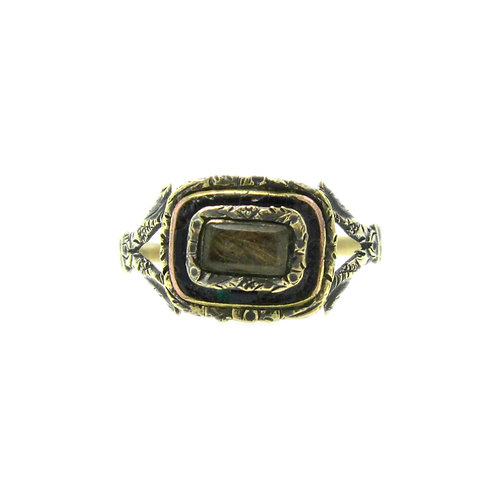 Georgian Braided Hair Memorial Ring