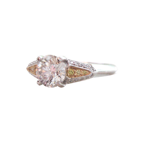 Ritani 1.05CT Diamond & Yellow Accent Diamond Ring