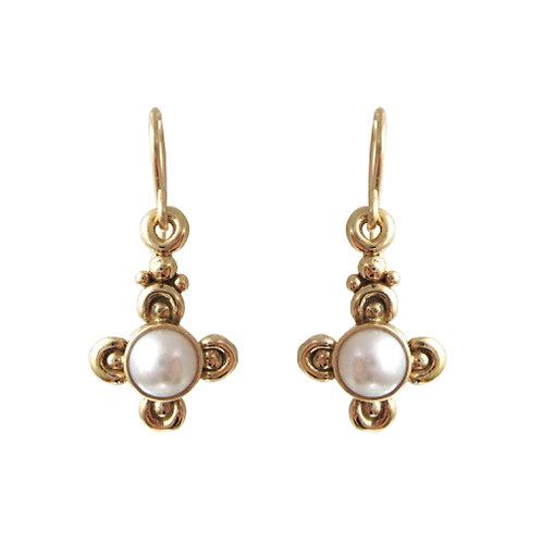 Roman Revival Style Pearl Earrings