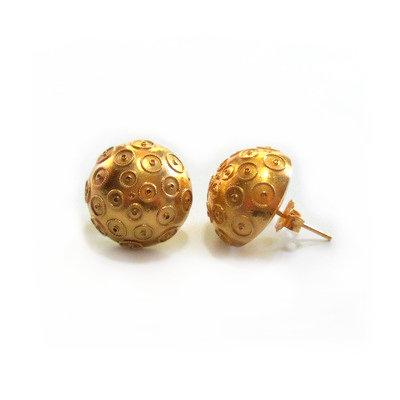 Vintage Portuguese 19 Karat Gold Earrings