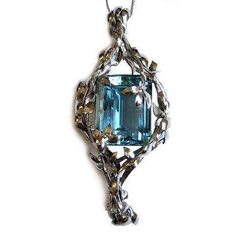 Handmade 39 Carat Aquamarine Pendant/Brooch
