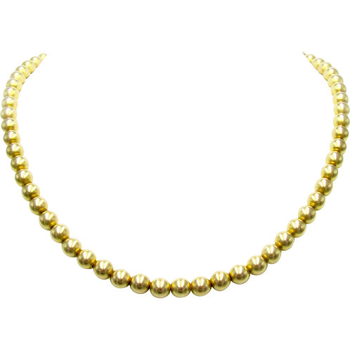 Antique 10K Yellow Gold Bead Necklace