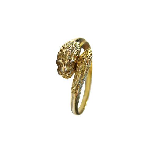 Vintage Lion Wrap Ring