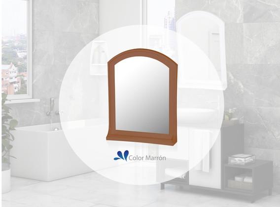 Espejo Basic con estante marrón