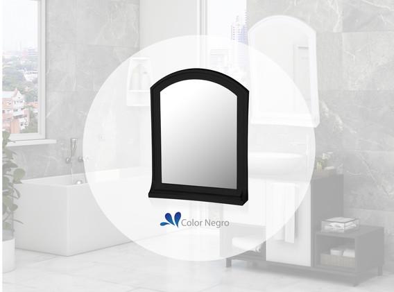 Espejo Basic con estante negro