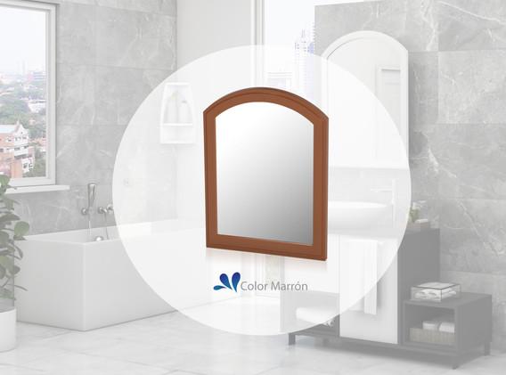 Espejo Basic marrón