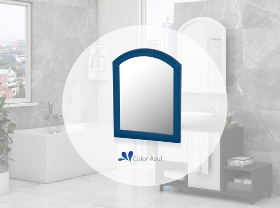 Espejo Basic azul