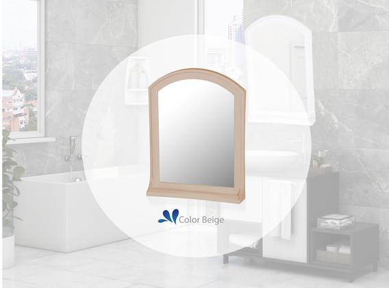 Espejo Basic con estante beige