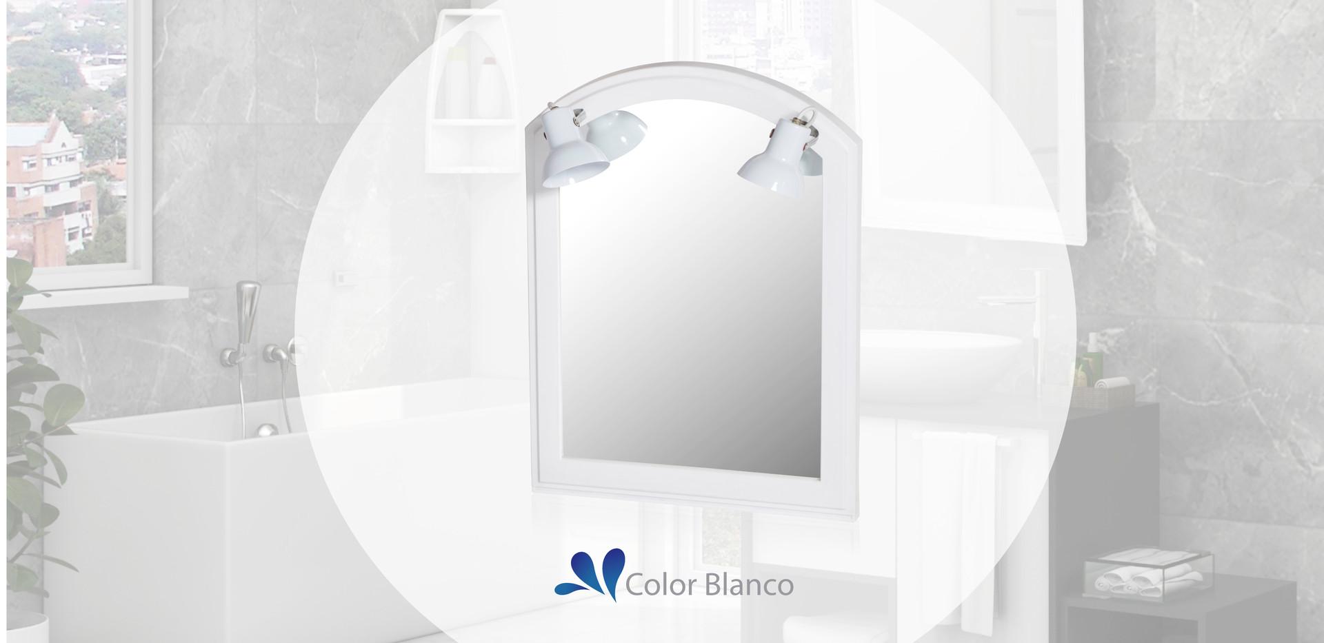 Espejo con luz blanco
