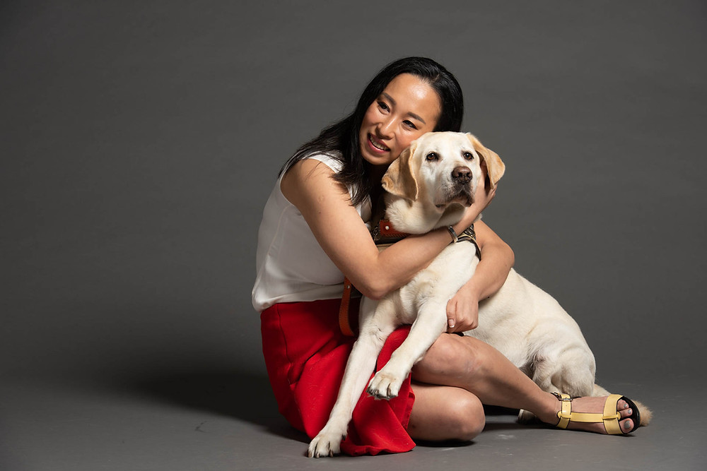 Cassandra Chiu with Esme (adorable guide dog) photo