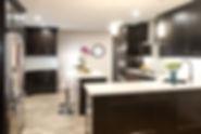 semi-custom espresso kitchen cabinets