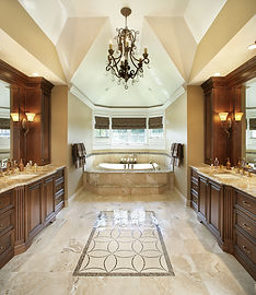 custom cabinets marble bathroom
