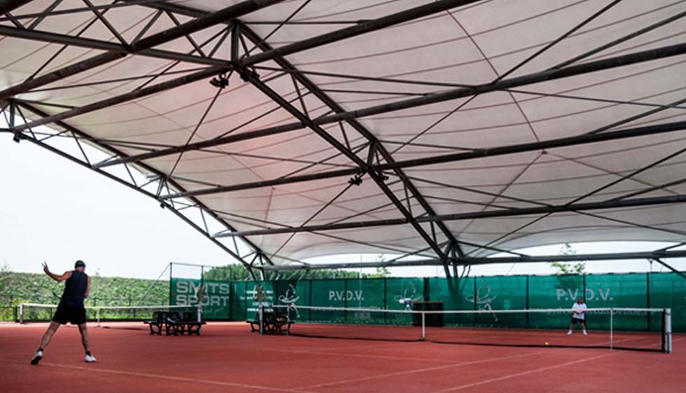 Tennisbaanoverkappingen voor PVDV_Utrech