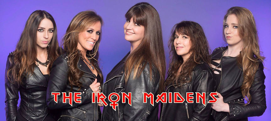 The Iron Maidens photo with logo for web