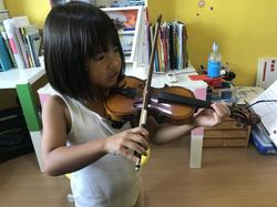 violin lesson for children