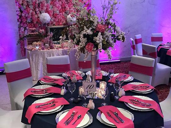 Wedding setup at the Metropoliton Room