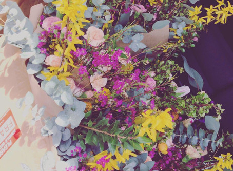 Socially Distant Thoughts on Flower Delivery Day