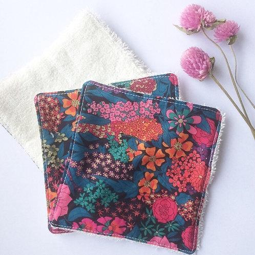 Pack de 5 lingettes Madame Capucine - fleurs fuchsia