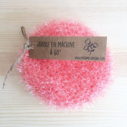 Eponge lavable Madame Capucine corail