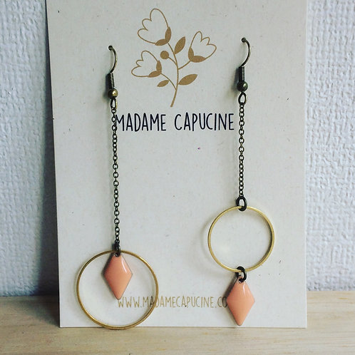 BO Madame Capucine asymétrique rose saumon