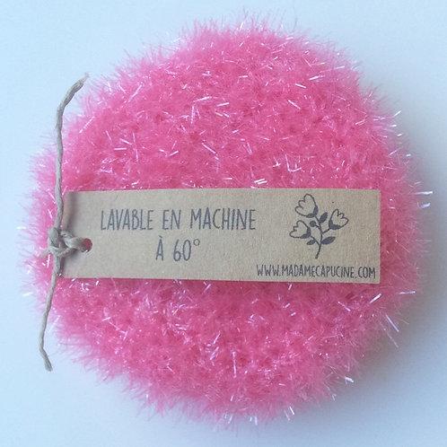 Eponge lavable Madame Capucine rose