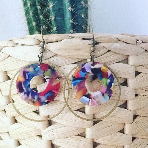 BO double cercle multicolor