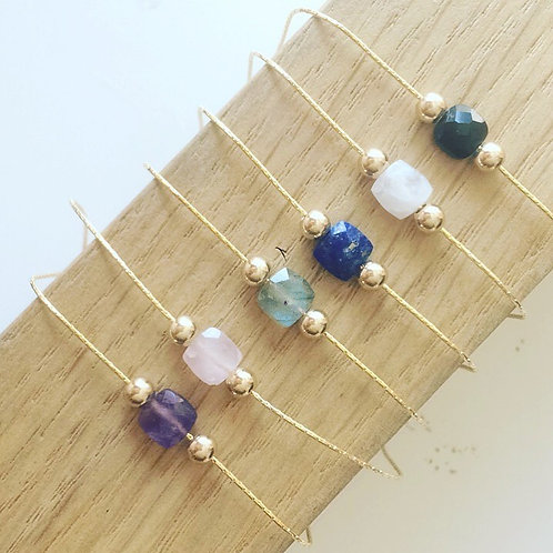 Bracelet pierre naturelle Labradorite