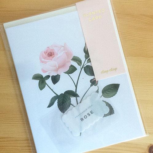 Carte double Clap Clap parfumée rose