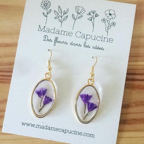 BO Madame Capucine fleurs séchées statice mauve