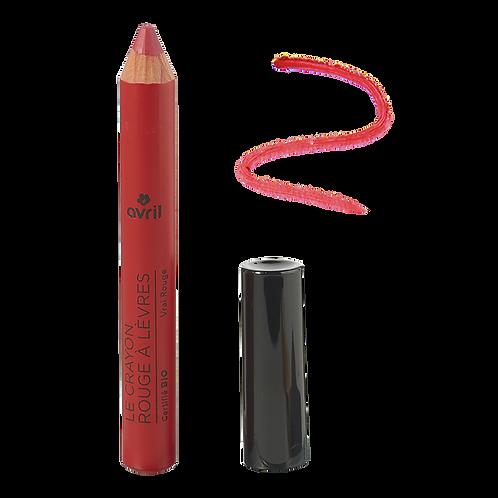 Crayon rouge à lèvres Vrai Rouge certifié bio Avril