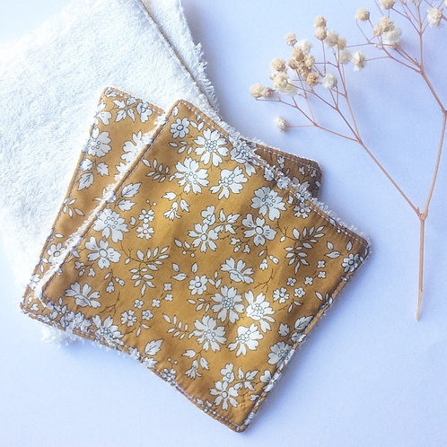 Pack de 5 lingettes Madame Capucine - moutarde