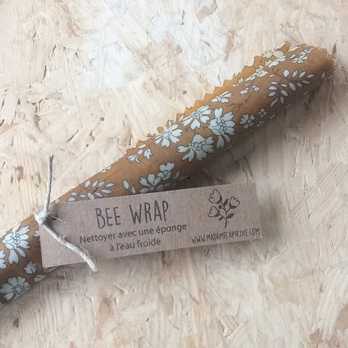 Bee Wrap M fleurs moutarde