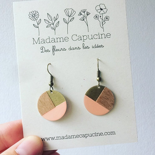 BO Madame Capucine rond bois mini saumon
