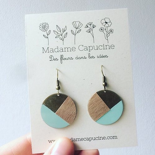 BO Madame Capucine rond bois bleu clair