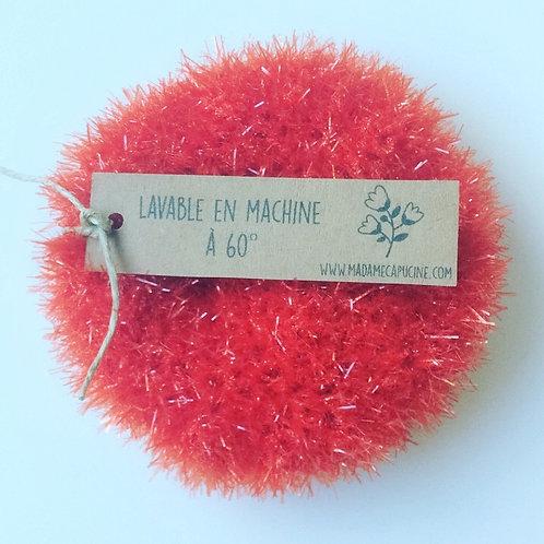 Eponge lavable Madame Capucine rouge