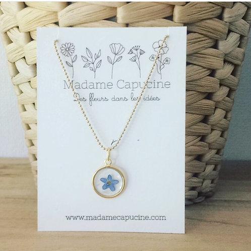 Collier Madame Capucine  myosotis