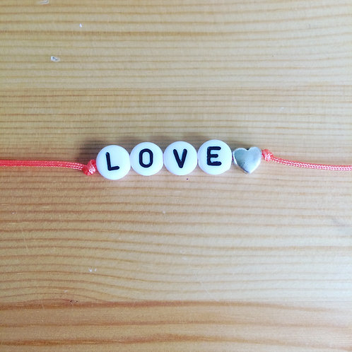 Bracelet little capucine Love corail