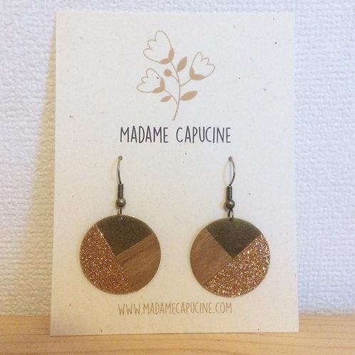BO Madame Capucine rond bois cuivre
