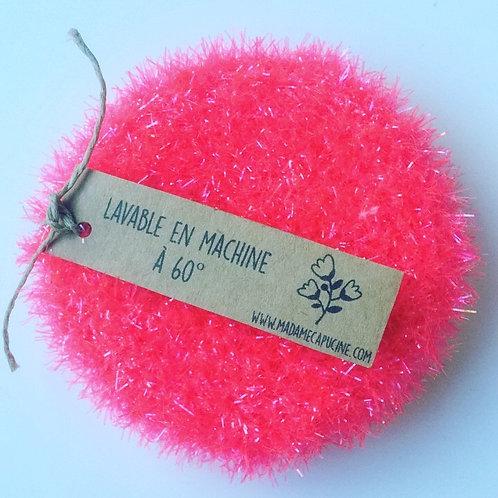 Eponge lavable Madame Capucine rose flashy