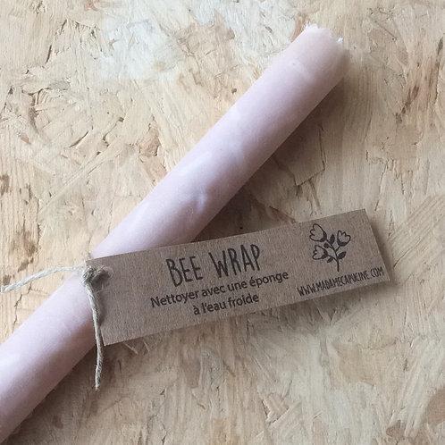 Bee Wrap S petites lignes rose