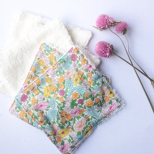 Pack de 5 lingettes Madame Capucine - fleurs multicolore